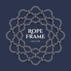 Round rope frame