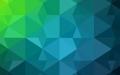 Light Blue, Green vector low poly cover.