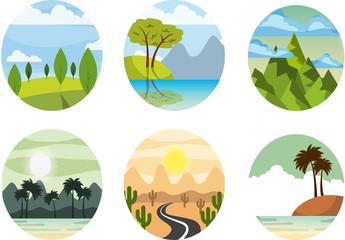 16 Colorful Nature Icons