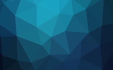 Dark BLUE vector abstract mosaic backdrop.