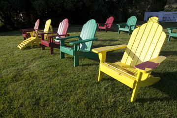 Adirondack Chairs on grass