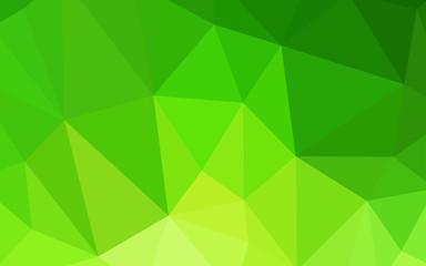 Light Green vector triangle mosaic template.