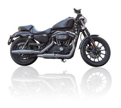 Custom motorcycle isolated on white background