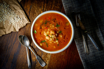 Healthy Farro Vegetable Soup