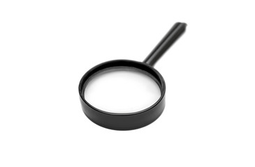 Magnifying glass on a white background.