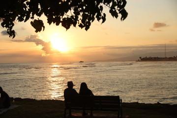 Sunset in Hawaii - Ala Moana Beach