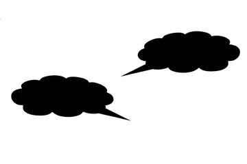 Черное облако мыслей выделенное на белом фоне