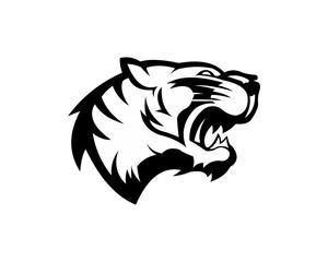 Tiger head logo or icon. Stock vector illustration.