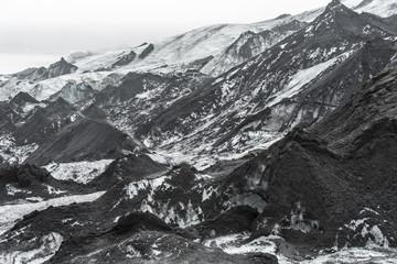 Photo sur Plexiglas Glaciers Sólheimajökull - Ash Piles