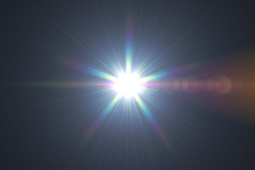 Abstract lens flare light over black background Wall mural