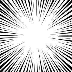 vector of comic radial speed lines