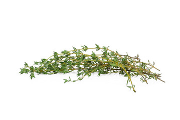 fresh green thyme isolated on white background