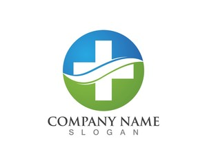 Medical pharmacy logo design template