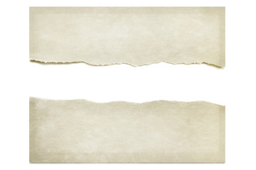 Torn Paper Isolated on White