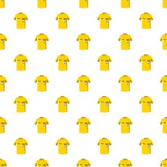 Yellow soccer referee shirt pattern seamless repeat in cartoon style vector illustration