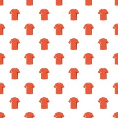 Orange soccer shirt pattern seamless repeat in cartoon style vector illustration