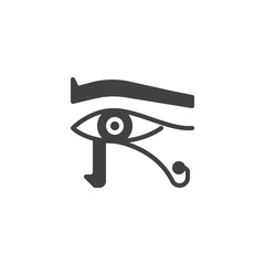 Egyptian eye vector icon. filled flat sign for mobile concept and web design. Egypt horus eye simple solid icon. Eye of ra symbol, logo illustration. Pixel perfect vector graphics