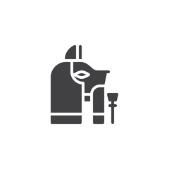 Egyptian goddess Bastet vector icon. filled flat sign for mobile concept and web design. Egypt Cat simple solid icon. Symbol, logo illustration. Pixel perfect vector graphics