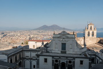 Panorama of the Etna from Naples