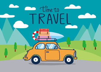 Planning summer vacations, Travel by car , World Travel, Summer holiday,Tourism and vacation theme