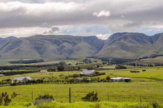 Countryside towards Hermanus landscape, travel Western Cape hills, South Afica