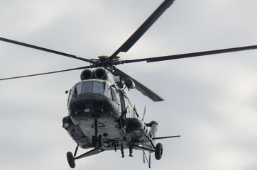 MILITARY HELICOPTER - Machine in the air