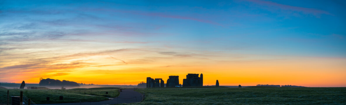 Panorama of Stonehenge in winter | England