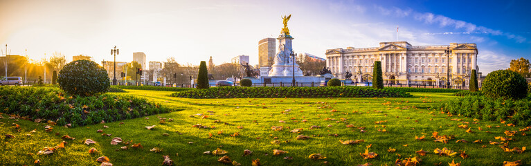 Buckingham Palace panorama in autumn - London, United Kingdom