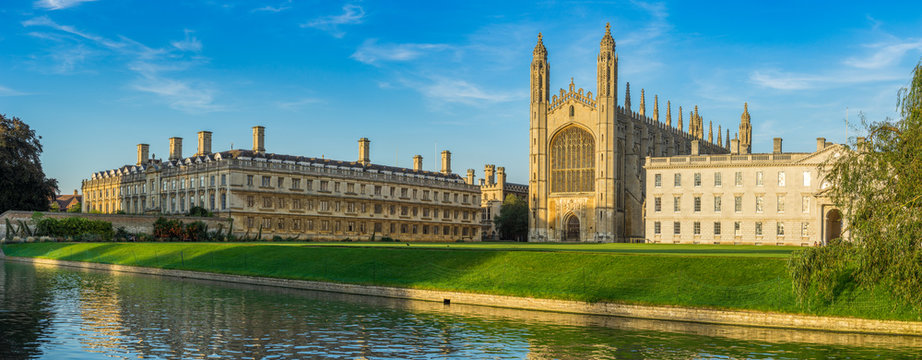 Panorama of college in Cambridge, UK