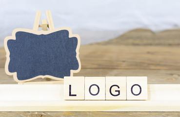 Blackboard for the logo