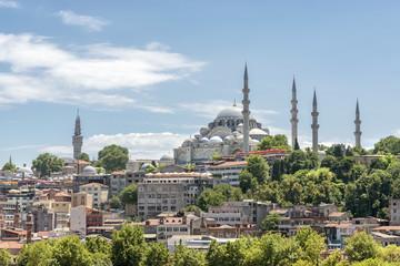 Suleymaniye Mosque On A Sunny Summer Day, Istanbul, Turkey
