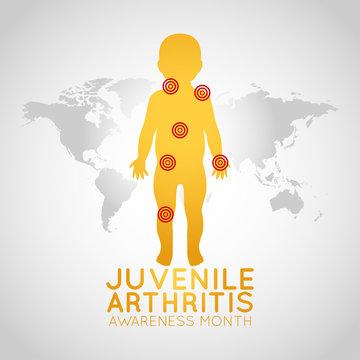 Juvenile Arthritis Awareness Month vector logo icon illustration