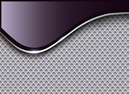 Abstract business background, elegant silver purple