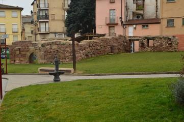 Ruined Walls Of The Old Najera Alcazar. Architecture, Travel, History. December 26, 2015. Najera. The Rioja. Spain.