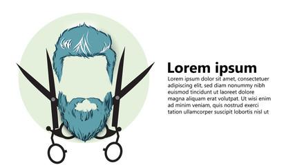 barber, hairdresser vintage startup business art paper cut 3D style vector illustration