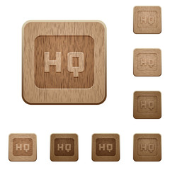 High quality sign wooden buttons