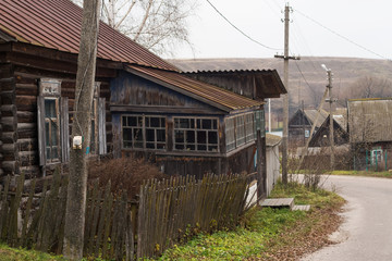 Old semi-abandoned village houses