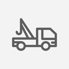 Roadside tow icon line symbol. Isolated vector illustration of  icon sign concept for your web site mobile app logo UI design.