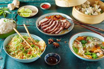 Chinese regional cuisine with assorted dishes