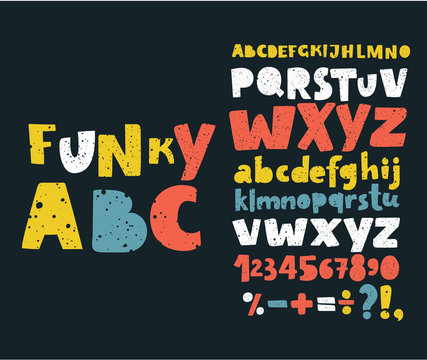 Hand draw doodle abc, alphabet grunge scratch type font vector illustration.