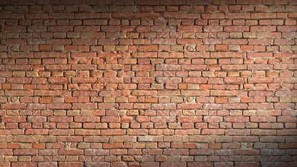 Brick wall 3d rendering