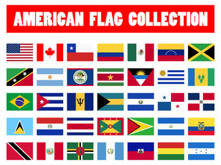 all country flags of America