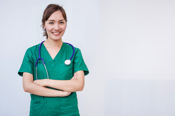 Woman nurse or doctor professional standing