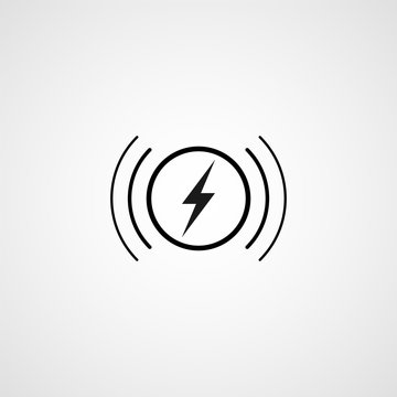 Wireless charging. Vector icon
