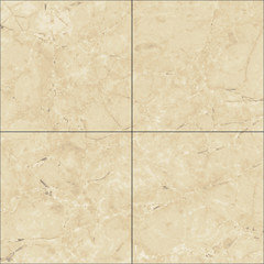 Natural marble square tile seamless texture map, diffuse