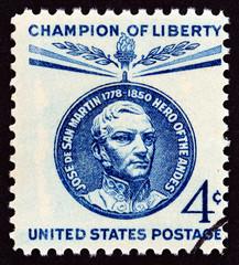 Medallion portrait, San Martin Commemoration (USA 1959)