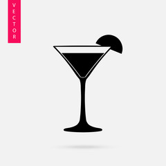 Glass, cocktail icon