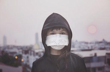 Small girl with mask