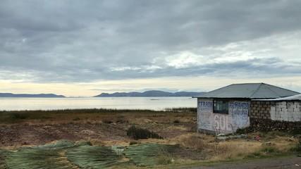 Scenery around Lake Titicaca at Puno, Peru