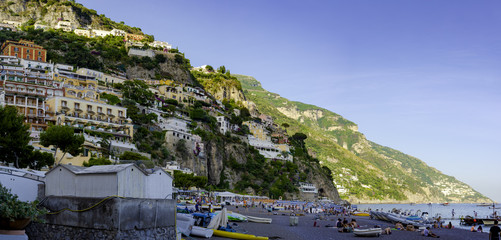 Beautiful view of Positano city in Amalfi Coast, Italy